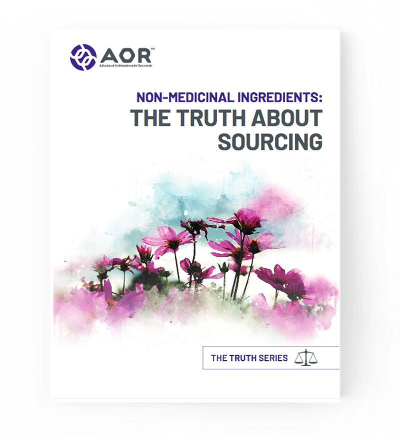 Non-Medicinal Ingredients: The Truth About Sourcing